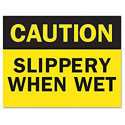 Tarifold Safety Sign Inserts Caution Wet