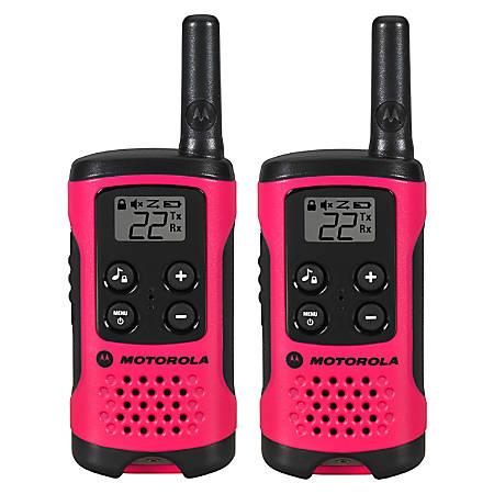 Motorola Talkabout T107 Two-Way Radio, Pink
