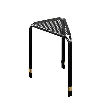 Sauder® Boulevard Café Metal Side Table, Triangular, Black