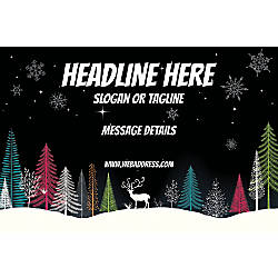 Adhesive Sign Dark Snow Night Horizontal