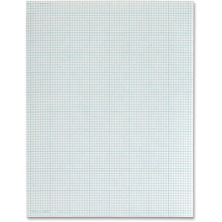 TOPS Quad-Ruling Cross Section Pad, Letter Size, Quadrille Ruled, 50 Sheets