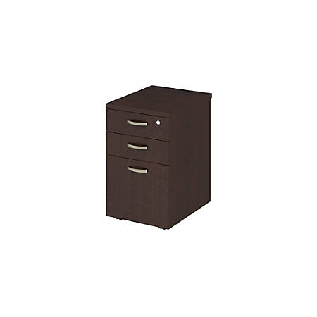 """Bush Business Furniture Easy Office Mobile File Cabinet, 16""""W, Mocha Cherry, Standard Delivery"""