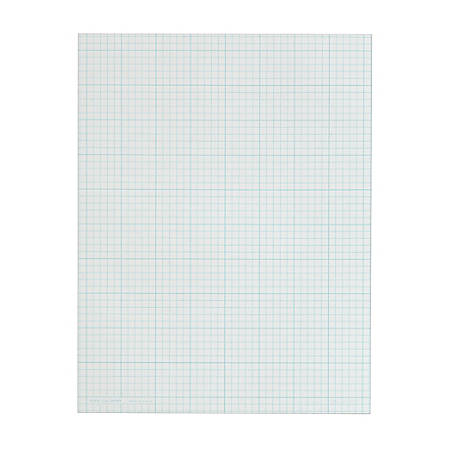 """TOPS™ Cross-Section Graphing Pad, 8 1/2"""" x 11"""", Quadrille Ruled, 100 Pages (50 Sheets), White"""