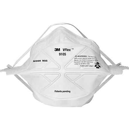 TEKK Protection VFlex Pleated Respirator Mask, Pack Of 20