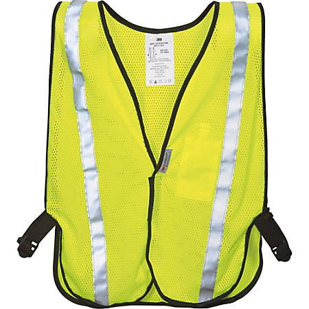 3M Reflective Polyester Safety Vest, One Size, Yellow