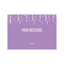 Flat Photo Greeting Card Confetti Ribbons