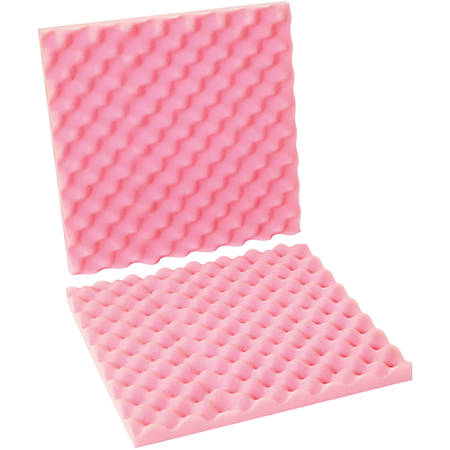 "Office Depot® Brand Antistatic Convoluted Foam Sets, 2""H x 16""W x 16""D, Pink, Case Of 12"