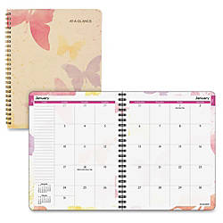 At A Glance Watercolors Monthly Planner