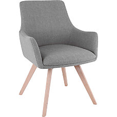 Lorell Flannel Guest Chair With Wood