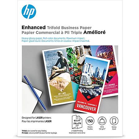 HP Laser Tri-Fold Brochure Paper, 8 1/2