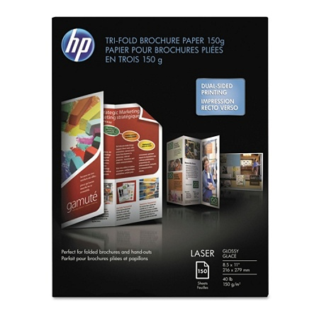 hp laser tri fold brochure paper 8 12 x 11 40 lb pack of 60 sheets by office depot officemax