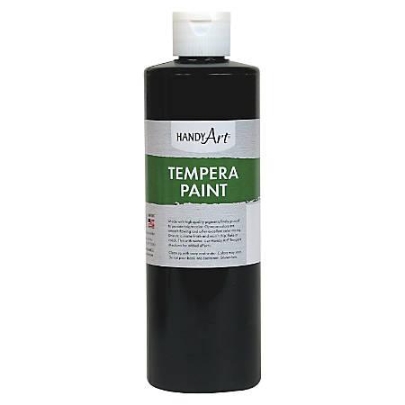 Handy Art 16 oz. Premium Tempera Paint - 16 fl oz - 1 Each - Black