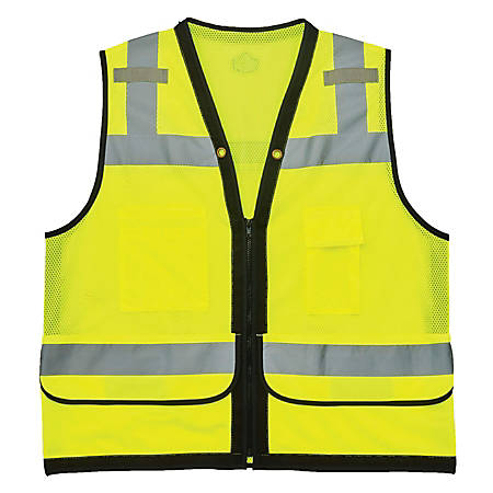 Ergodyne GloWear Safety Vest, Heavy-Duty Mesh, Type-R Class 2, Small/Medium, Lime, 8253HDZ