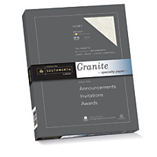 Southworth 25percent Cotton Granite Specialty Paper