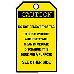 Brady Accident Prevention Tags Caution With
