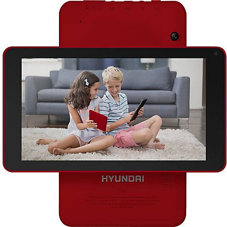"""Hyundai Koral 7W4X 1GB/16GB 2MP/2MP Wifi Android 9.0 Pie - Red - Hyundai Koral 7W4X, 7"""" RK3326 Quad-Core 1024x600 IPS, WiFi 802.11 B/G/N, Android 9.0 Pie, 1GB/16GB, 2MP/2MP - Expandable Storage: Up to 32GB microSDHD Card"""