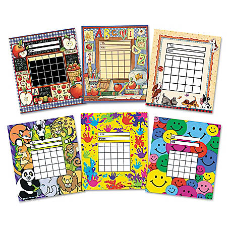 "Teacher Created Resources Individual Incentive Chart Packs, 5 1/4"" x 6"", Assorted Colors, Pack Of 36"