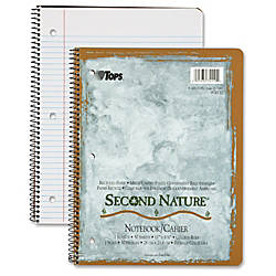 TOPS College ruled Second Nature Notebook