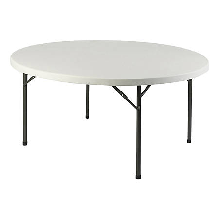 Lorell® Banquet Folding Table, Round, 5 11/12'W, Platinum
