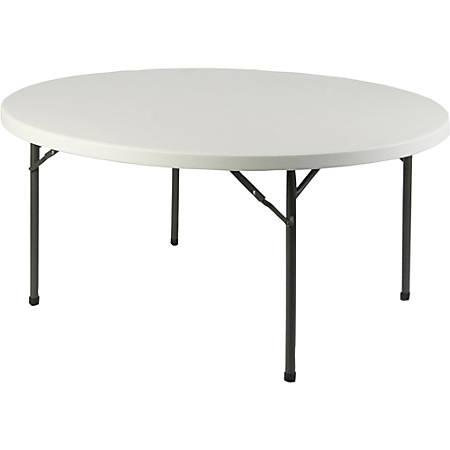 Lorell® Banquet Folding Table, Round, 5 11/12'W, Platinum