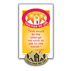 Together We Can Lapel Pin 12