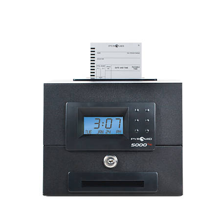 Pyramid Time Systems 5000HD Heavy-Duty Auto Totaling Time Clock
