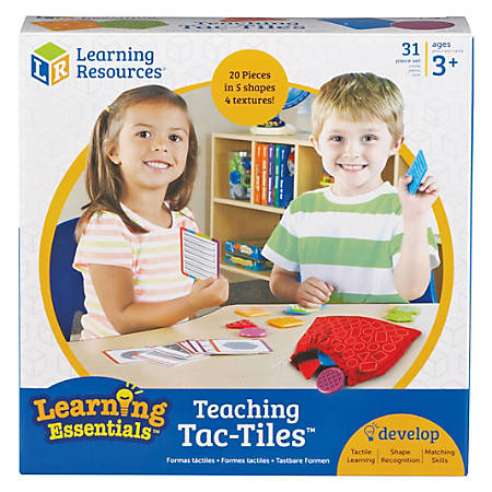 Learning Resources Tac-Tiles Teaching Set - Theme/Subject: Learning, Fun - Skill Learning: Fine Motor, Shape Differentiation, Vocabulary, Mathematics, Tactile Discrimination