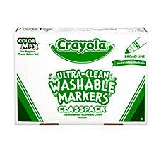 Crayola Washable Broad Line Marker Classpack