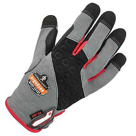 Ergodyne ProFlex 710CR Armortex Heavy-Duty Cut-Resistant Gloves, Large, Gray