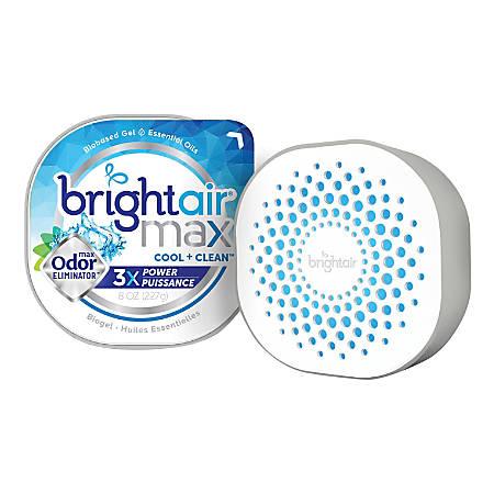 Bright Air Max Scented Gel Odor Eliminator - Gel - 8 oz - Cool Clean - 1 Each - Odor Neutralizer, Phthalate-free, Paraben-free, BHT Free, Bio-based, Formaldehyde-free, NPE-free