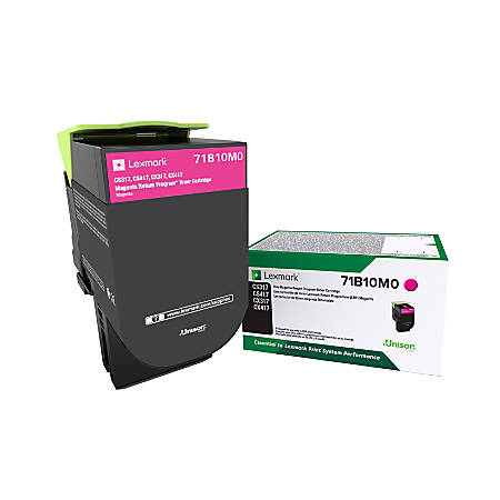Lexmark™ 71B10M0 Return Program Magenta Toner Cartridge