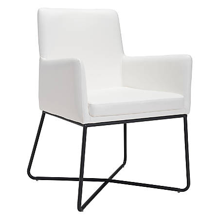 Zuo Modern Axel Dining Chair, White/Black