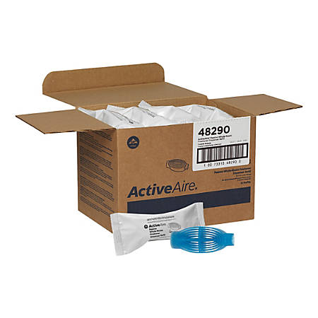 "ActiveAire® Passive Whole-Room Freshener Dispenser Refills, Coastal Breeze Scent, 2""H x 2 7/8""W x 6 1/2""D, Blue, Case Of 12"