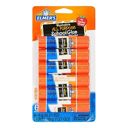 Elmer's® All-Purpose School Glue Sticks, 1.27 Oz, Pack Of 6