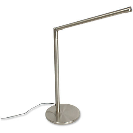 "HON Task Desk Lamp - 15.8"" Height - 15.8"" Width - Desk Mountable - Brushed Nickel - for Desk, Table"