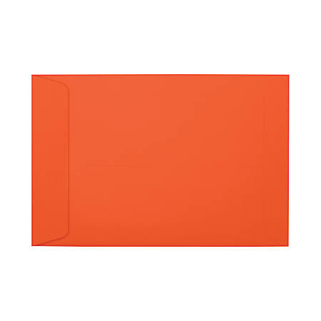 "LUX Open-End Envelopes With Peel & Press Closure, #6 1/2, 6"" x 9"", Tangerine, Pack Of 250"