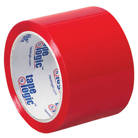 "Tape Logic® Carton-Sealing Tape, 3"" Core, 3"" x 55 Yd., Red, Pack Of 24"