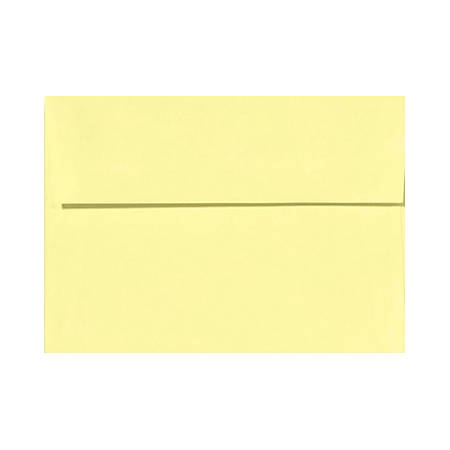 """LUX Invitation Envelopes With Peel & Press Closure, A7, 5 1/4"""" x 7 1/4"""", Lemonade Yellow, Pack Of 50"""