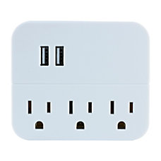 GE USB Wall Charger With 3