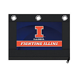"Markings by C.R. Gibson® Pencil Pouch, 9 7/8"" x 7 1/2"", Illinois Fighting Illini"