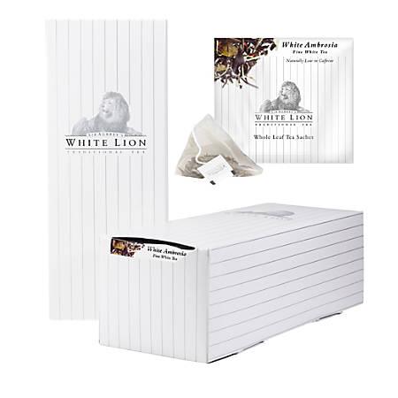 RISE NA White Ambrosia Tea, 8 Oz, Box Of 40 Sachets