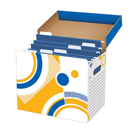 "TREND File N' Save System® Bulletin Board Storage Boxes, 19""H x 7 1/4""W x 27 3/4""D, Multicolor, Pack Of 2"