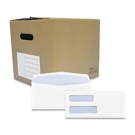 "Quality Park® Double Window Envelopes, #8 5/8, 3 4/5"" x 8 4/5"", White, Box Of 1,000"