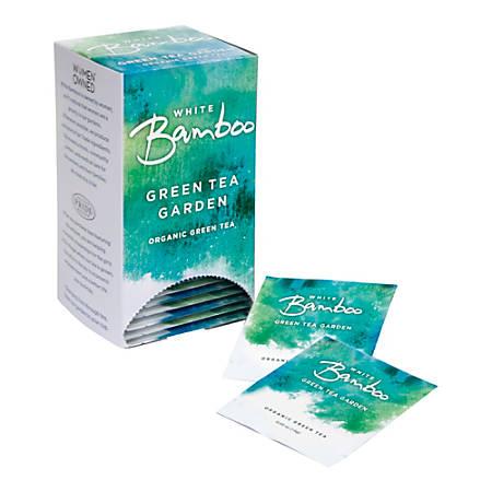 White Bamboo Organic Tea, Green Tea Garden, 8 Oz, 25 Tea Bags Per Box, Case Of 6 Boxes