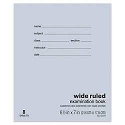 Office Depot Brand Examination Booklet 8