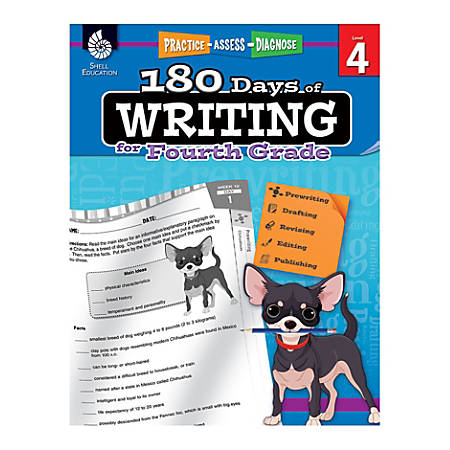 Shell Education 180 Days Of Writing Workbook, Grade 3
