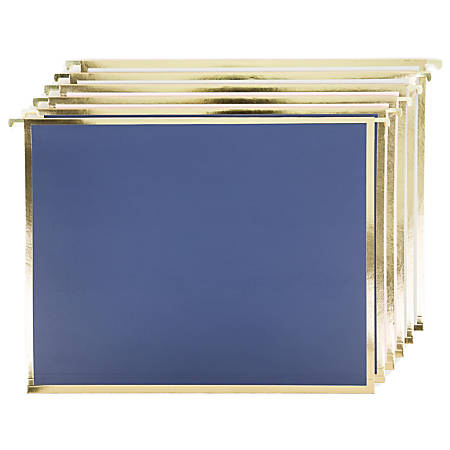 """U Brands Hanging File Folders, 1"""" Expansion, Letter Size, Classic Chic, Pack Of 6 Folders"""