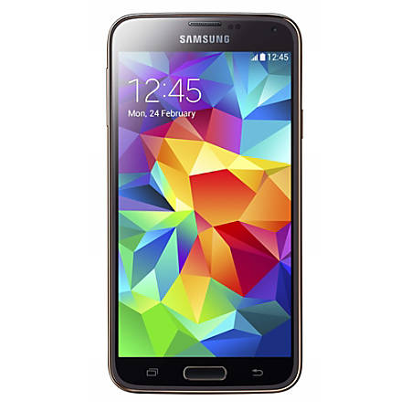 Samsung Galaxy S5 G900A Refurbished Cell Phone, Gold, PSC100044