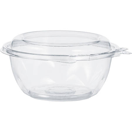 Dart SafeSeal Bowls - 12 fl oz Bowl, Lid - Polyethylene Terephthalate (PET) - Clear - 240 Piece(s) / Carton