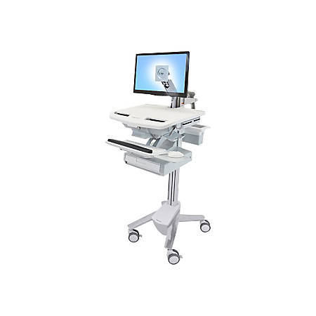Ergotron StyleView Cart with LCD Arm, 1 Drawer